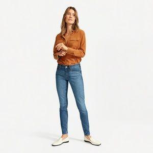 Everlane 2019 NWT Mid Rise Skinny Jean Ankle Blue